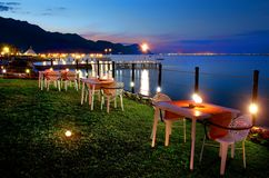 Dinner on the Sea Royalty Free Stock Photography
