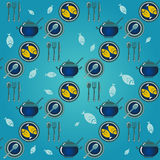 Dinner seamless pattern Royalty Free Stock Images