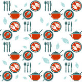 Dinner seamless pattern Royalty Free Stock Photo