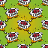 Dinner seamless pattern Royalty Free Stock Image
