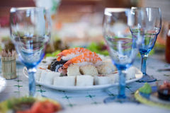 Dinner served Royalty Free Stock Photo