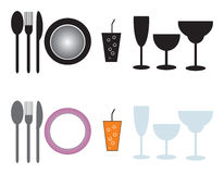 Dinner services Royalty Free Stock Photography