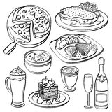 Dinner Set Collection Stock Photography