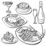 Dinner Set Collection Stock Images