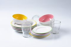Dinner set Stock Photography