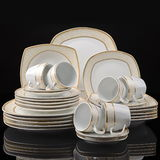 Dinner set isolated Stock Image