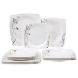 Dinner set isolated. On white background Stock Image