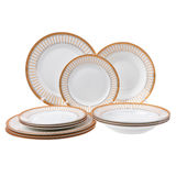 Dinner set isolated. On white background Stock Photography