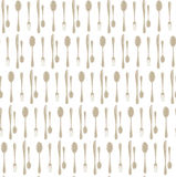 Dinner set seamless pattern. Spoons and forks background. Modern background for menu design. Restaurant, cafe seamless texture bac Royalty Free Stock Photo