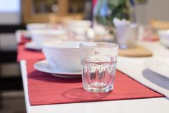 Dinner set on the table Royalty Free Stock Photo