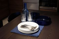 Dinner set on the table Stock Photography