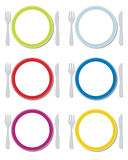 Dinner sets Stock Photos