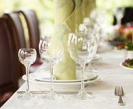 Dinner setting Stock Image