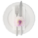 Dinner setting isolated Stock Photography