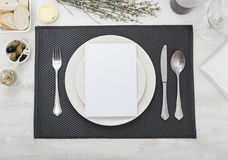 Dinner setting Royalty Free Stock Photography