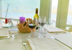 Dinner setup Stock Photo