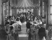 DINNER SHOW. (All persons depicted are no longer living and no estate exists. Supplier grants that there will be no model release issues Royalty Free Stock Photo