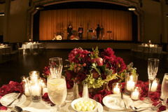 Dinner and a show. Reception dinner party in ballroom Royalty Free Stock Photos