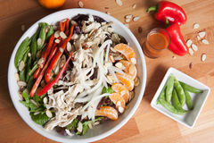 Dinner sized asian salad Stock Photos