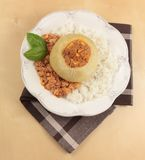 Dinner with stuffed kohlrabi Stock Image