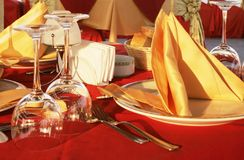 Dinner table. For romantic nights stock photos