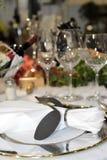 Dinner table closeup stock photography