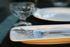 Dinner Table Detail stock photos