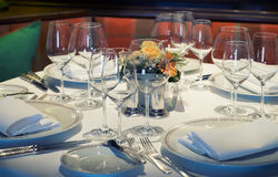 Dinner table Royalty Free Stock Image