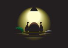 Dinner table stock illustration