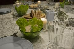 Table Ready for a Distinguished Dinner royalty free stock image