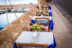 Dinner table in Italian restaurant Stock Photos