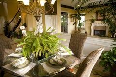 Dinner table living 1750 Stock Photo
