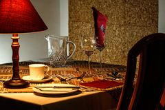 Dinner Table, Restaurant, Dining Royalty Free Stock Images
