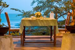 Dinner table set Royalty Free Stock Images
