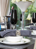 Dinner table set Royalty Free Stock Image