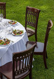Dinner table setting Royalty Free Stock Photos