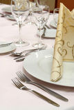 Dinner table setting Royalty Free Stock Image