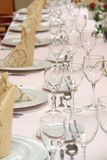 Dinner table setting Royalty Free Stock Photo