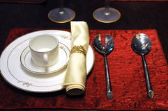 The dinner table setting Royalty Free Stock Images