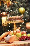 Dinner Table Setting.Christmas. Stock Image