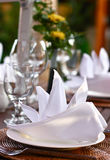 Dinner table. Are setting for a special day Stock Image