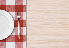 Dinner table setting top view Royalty Free Stock Photo