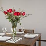 Dinner table setup Stock Photos