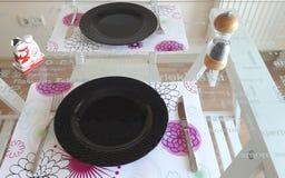 Dinner Table Setup Stock Image