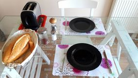 Dinner Table Setup Royalty Free Stock Images