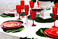 Dinner table setup - Italian Style Royalty Free Stock Photography