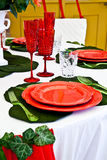Dinner table setup - Italian Style Stock Photography