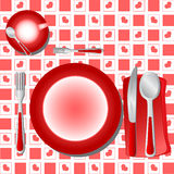 Dinner Table Vector. Illustration love dinner tablecloth table Royalty Free Stock Photography