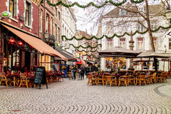 Dinner tables of bars and restaurants in Maastricht