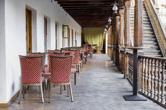 Dinner Tables at Manuc's Inn , Bucharest Stock Image